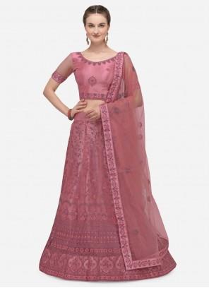 Pink A Line Lehenga Choli For Engagement