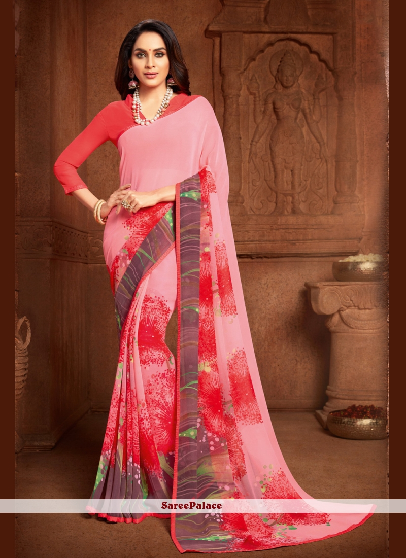 Abstract Print Multi Colour Saree