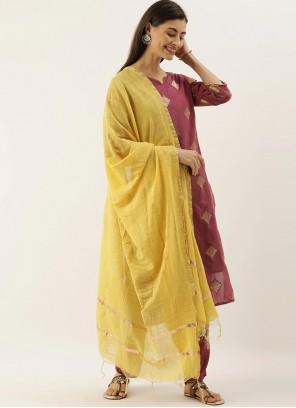 Abstract Print Pink Bollywood Salwar Kameez