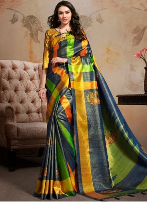 Abstract Printed Saree