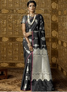 Abstract Print Work Trendy Saree