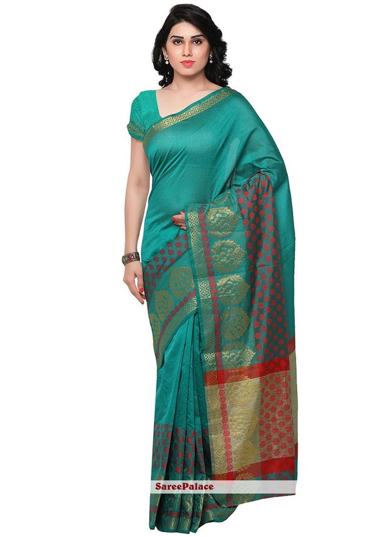 Adorable Blue Banarasi Silk Traditional  Saree
