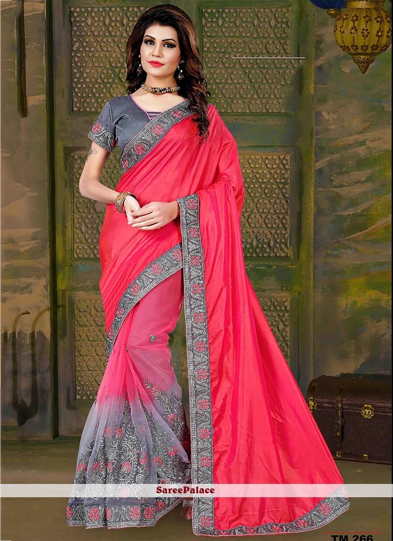 Adorning Art Silk Patch Border Work Traditional  Saree