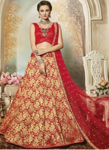Aesthetic Red Lehenga Choli