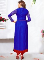 Affectionate Lace Work Blue Anarkali Salwar Kameez