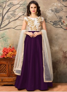 Alluring Tafeta silk Floor Length Anarkali Suit