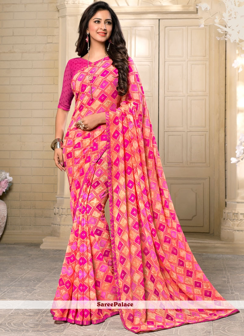 Amazing Georgette Casual Saree