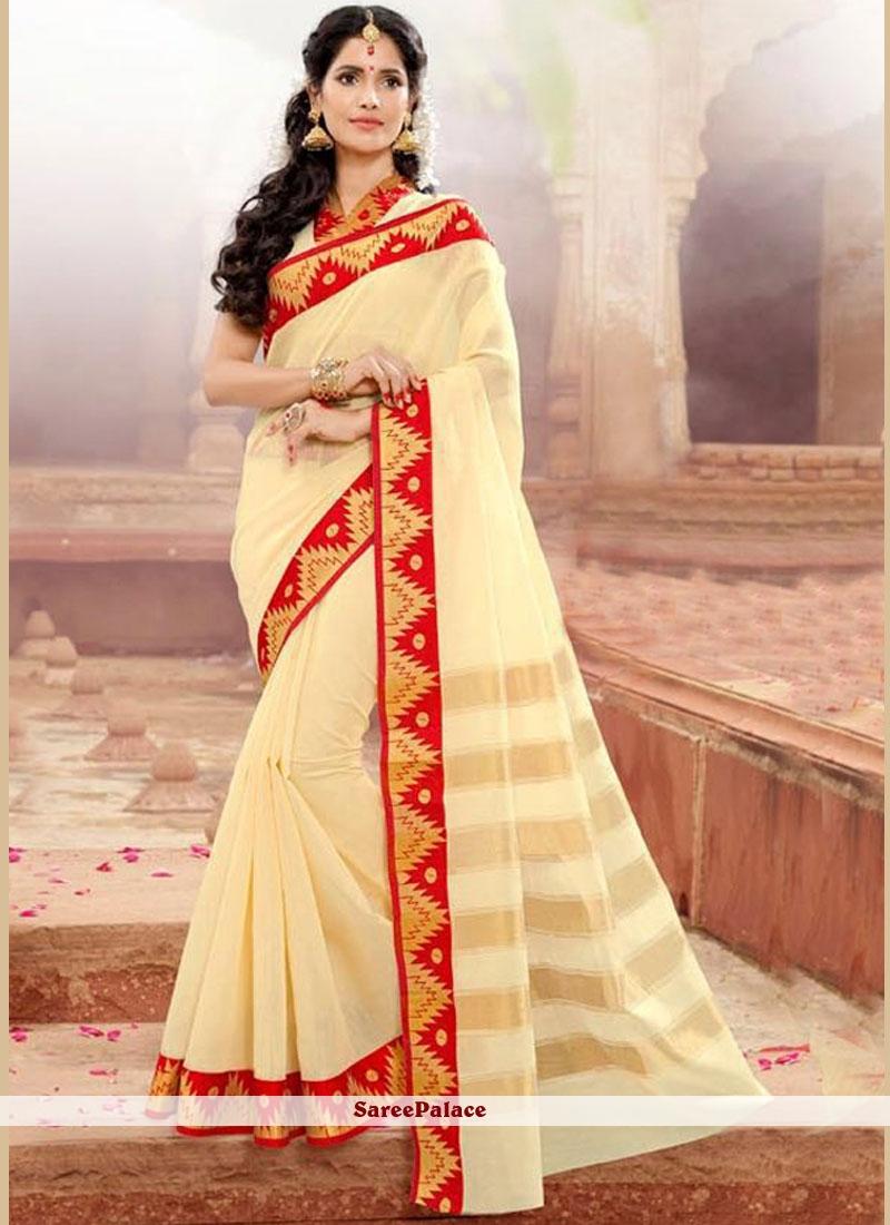 Amusing Khadi silk Traditional  Saree