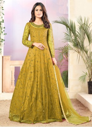 Yellow Anarkali Salwar Suit For Party