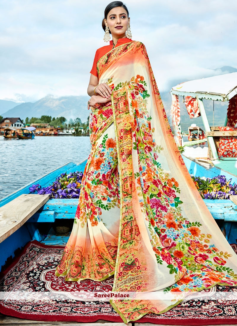 Appealing Multi Colour Weight Less Casual Saree