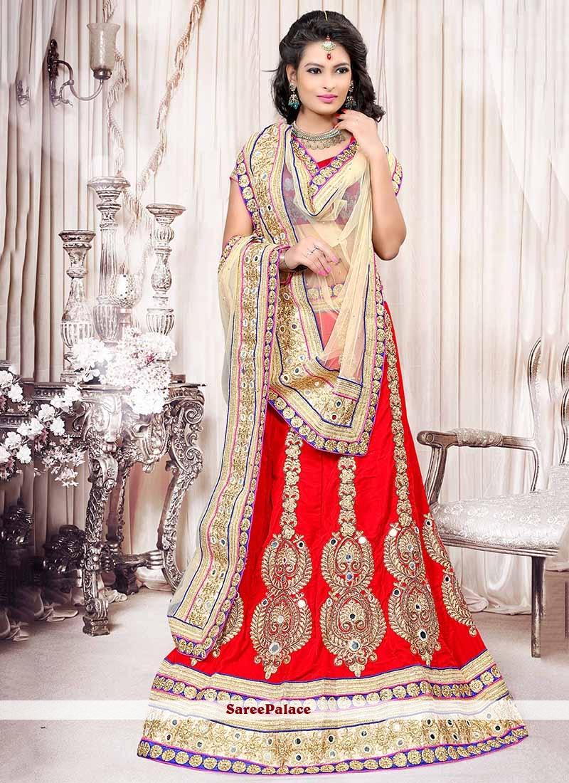 Appealing Red Velvet Lehenga Choli