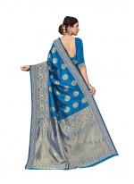 Aqua Blue Casual Art Silk Trendy Saree