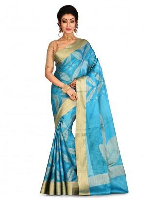 Aqua Blue Wedding Designer Saree