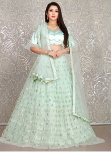Aqua Blue Wedding Lehenga Choli