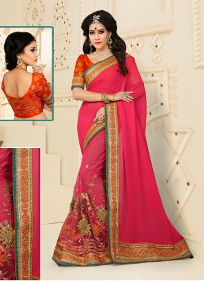 Aristocratic Net Designer Half N Half saree