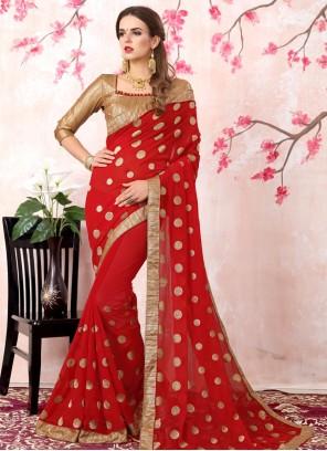 Aristocratic Red Bollywood Saree