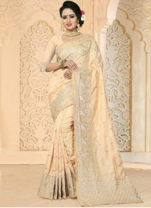 Arresting Beige Designer Traditional Saree