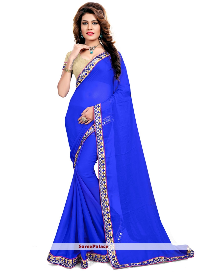 Arresting Blue Saree