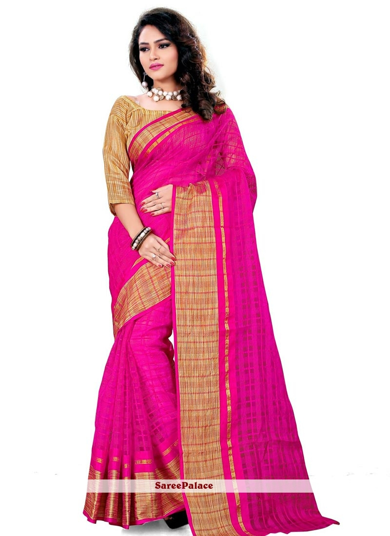 Arresting Patch Border Work Casual Saree