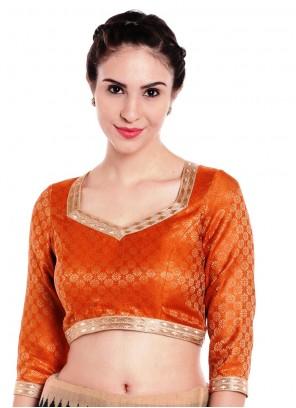Art Banarasi Silk Gold Designer Blouse