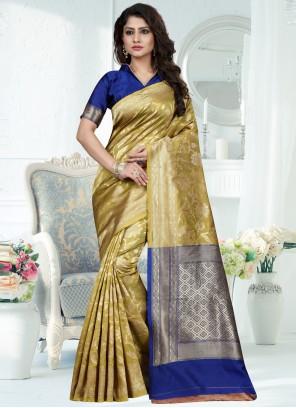 Art Banarasi Silk Green Weaving Traditional Designer Saree