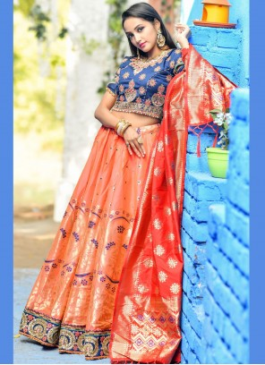 Art Banarasi Silk Lehenga Choli