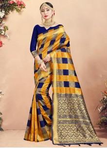 Art Banarasi Silk Multi Colour Woven Designer Traditional Saree