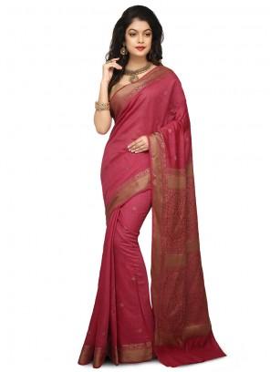Art Banarasi Silk Wine Designer Traditional Saree