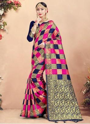 Art Banarasi Silk Woven Multi Colour Traditional Saree