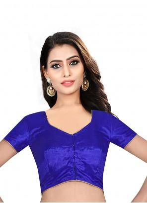 Art Raw Silk Blue Designer Blouse