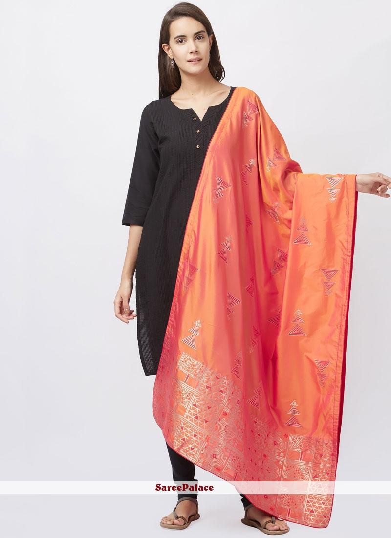 Art Silk Black woven Work Churidar Suit