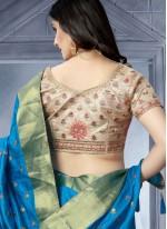 Art Silk Blue Classic Saree