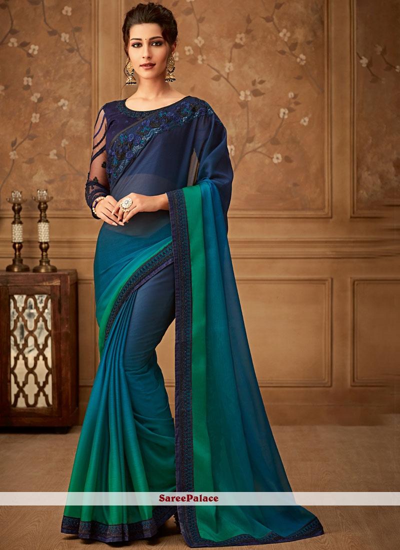 Art Silk Border Designer Saree