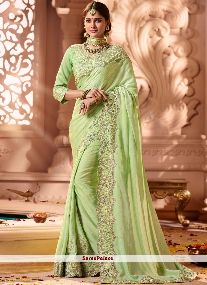 Green Art Silk Bridal Designer Traditional Saree