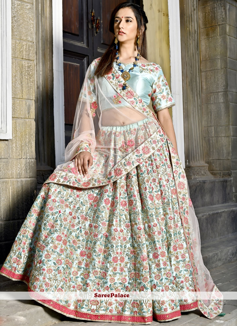 78d6605059 Buy Blue Art Silk Bridal Lehenga Choli Online