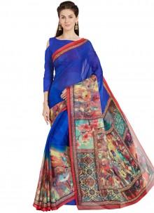 Art Silk Casual Saree in Blue