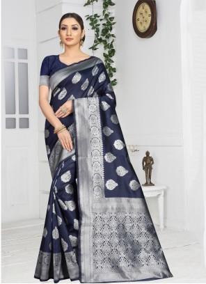 Art Silk Casual Saree in Grey
