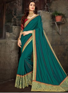 Art Silk Ceremonial Trendy Saree