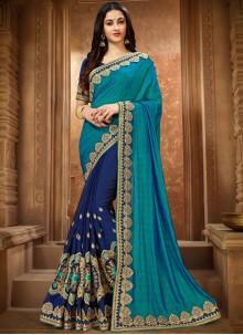 Art Silk Classic Designer Saree in Blue