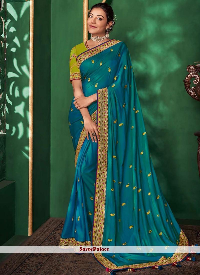 Art Silk Classic Saree in Blue