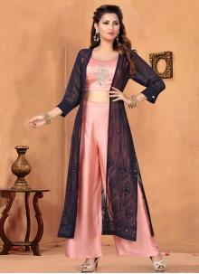 Art Silk Designer Salwar Kameez in Pink