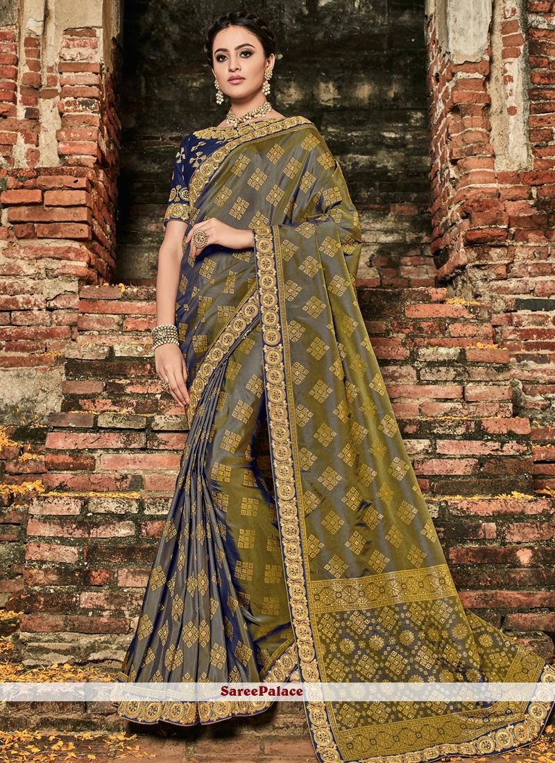 b11850dce5308 Buy Violet Art Silk Designer Traditional Saree Online
