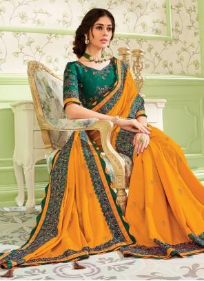 Art Silk Embroidered Classic Designer Saree