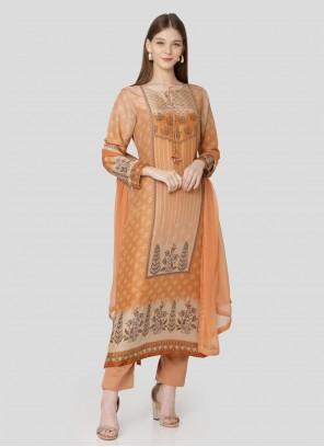 Art Silk Embroidered Designer Pakistani Suit