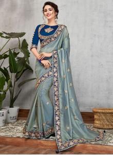 Art Silk Embroidered Traditional Designer Saree