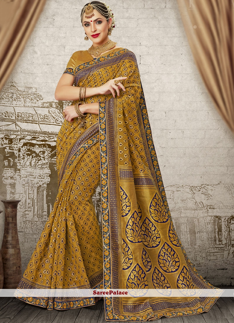 Art Silk Gold Weaving Traditional Designer Saree