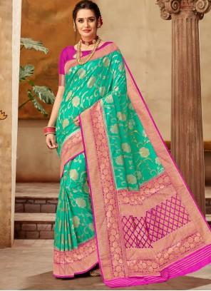 Art Silk Green Classic Saree