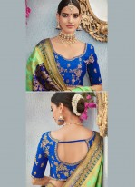 Art Silk Green Designer Traditional Saree