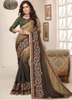 Art Silk Green Trendy Saree