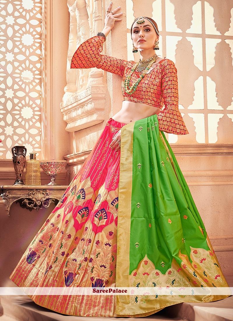 7da98568ca Buy Art Silk Hot Pink Designer Lehenga Choli Online